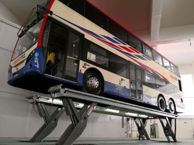 Wash Bay Lift for Public Transport Company in Malaysia